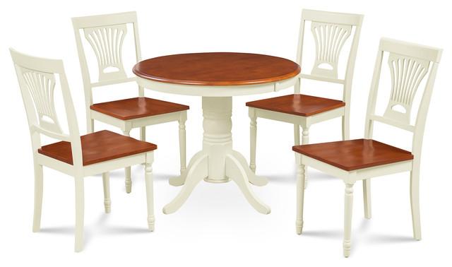 Brookline 5 Piece Small Kitchen Table Chairs Set Ermilk Cherry