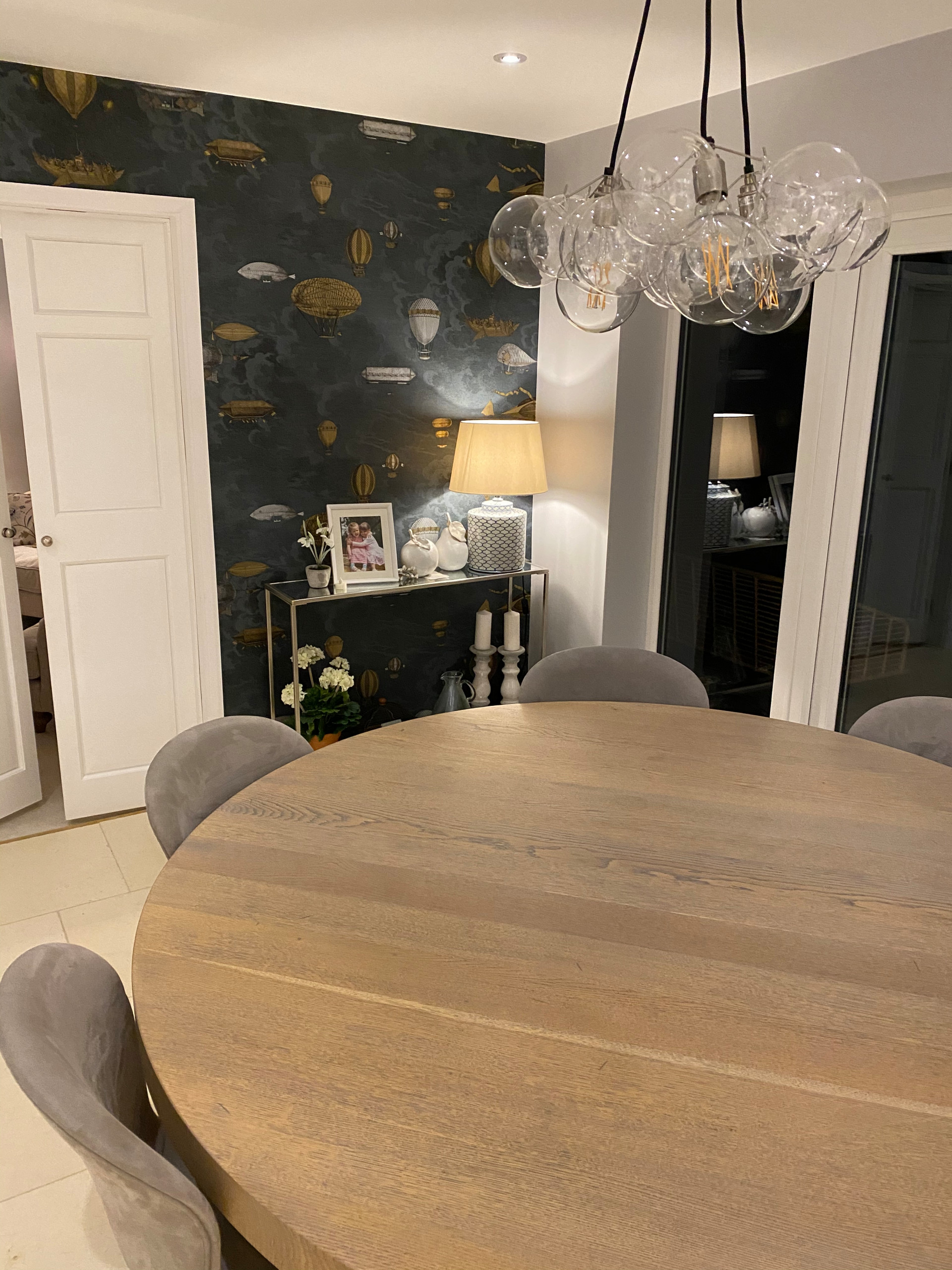 Luxury kitchen, hall and dining room