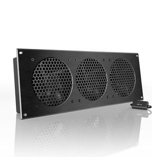 "AC Infinity AIRPLATE S9, Home Theater and AV Cabinet Cooling Fan System 18"" - Contemporary ..."