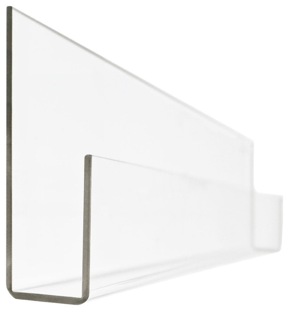 "Peekaboo Clear Acrylic Book Shelves (Set of 2), 36""x3.25""x8.5"""