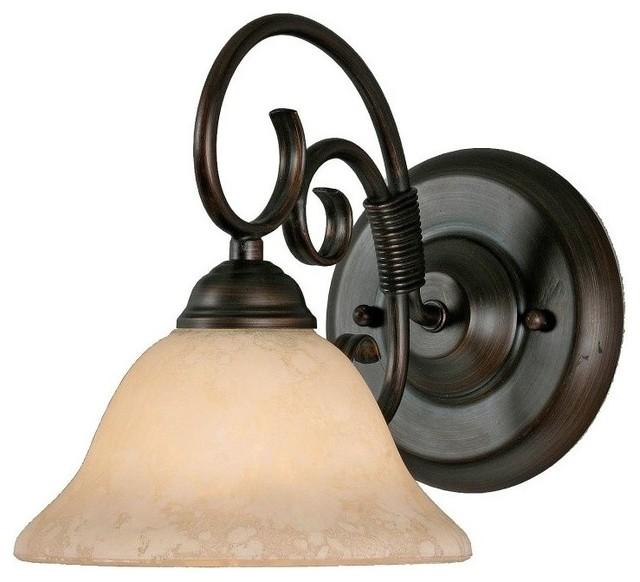 Homestead 1-Light Vanity, Rubbed Bronze