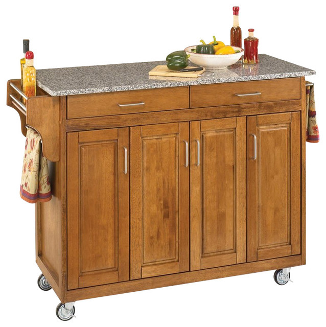 create a cart cottage oak finish with wood top create a cart cherry with oak top transitional