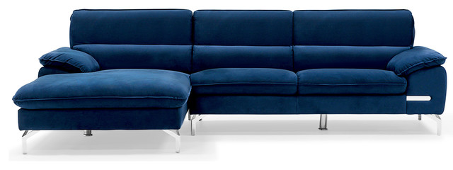 Blue Sapphire Sectional - Contemporary - Sectional Sofas ...