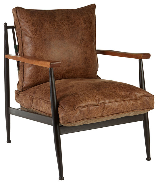 New Foundry Faux Leather Armchair