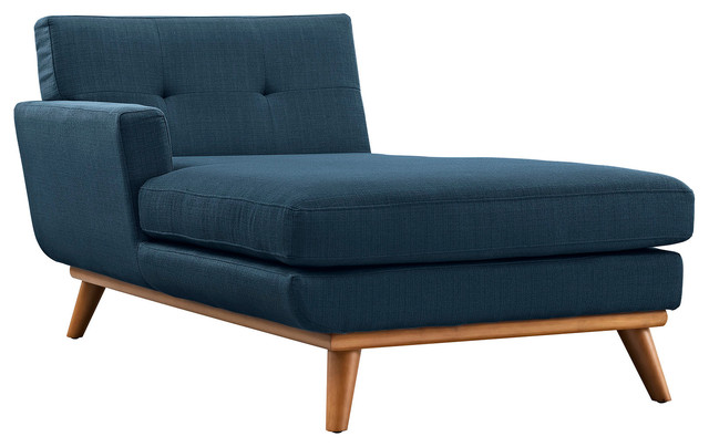 Engage Left Arm Chaise Azure Transitional Indoor Chaise Lounge Chairs
