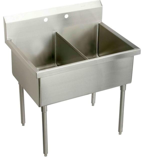 Elkay SS82422 Sturdibilt Scullery Sink in Stainless Steel ...