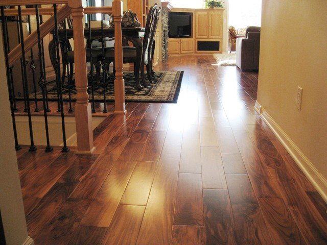 Solid acacia smooth plank prefinished for Traditional flooring
