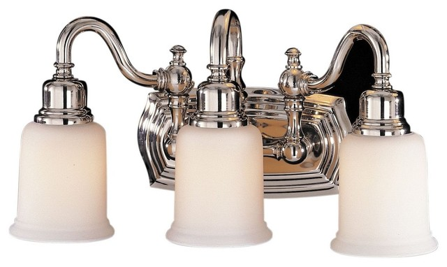 Bathroom Vanity Lights Traditional : 3- Light Vanity Fixture - Traditional - Bathroom Vanity Lighting - by Buildcom