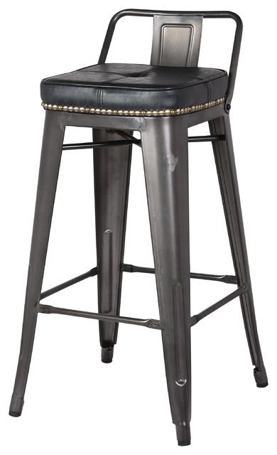 Surprising Metropolis Low Back Counter Stools Set Of 4 Vintage Black Unemploymentrelief Wooden Chair Designs For Living Room Unemploymentrelieforg