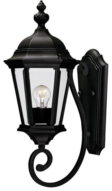 Wakefield 1-Light Outdoor Wall Lights, Textured Black.