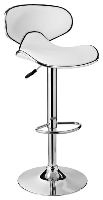 Powell Furniture Adjule Bar Stool White Contemporary Stools And Counter By Ere