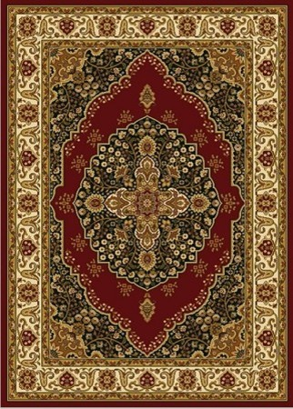 Home Fashion Stores Burgundy Oriental Cross Area Rug 5x7