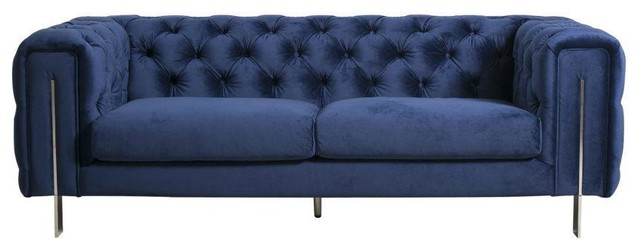 SOVO Pharrell 2 Seat Sofa Royal Blue - Contemporary - Sofas - by ...