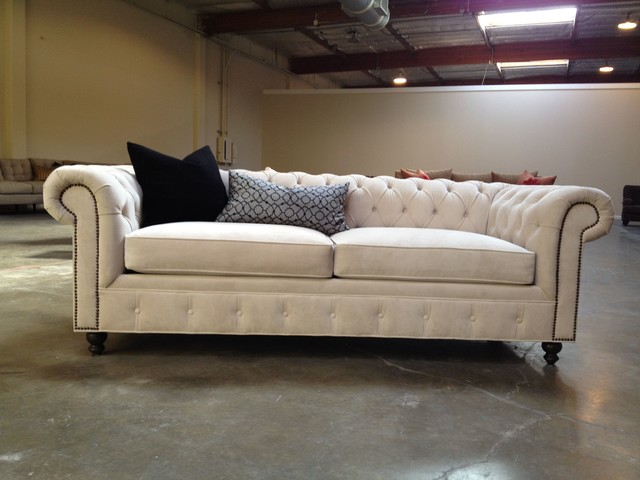 kenzie style - chesterfield custom sectional sofas - traditional