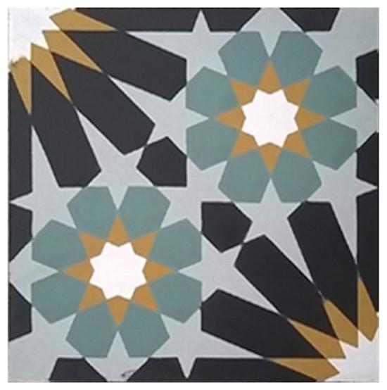 "8""x8"" Rotterdam-B Cement Tile"