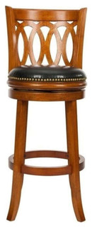 "Safavieh Matthew Oak 29"" Bar Stool, Light Brown"