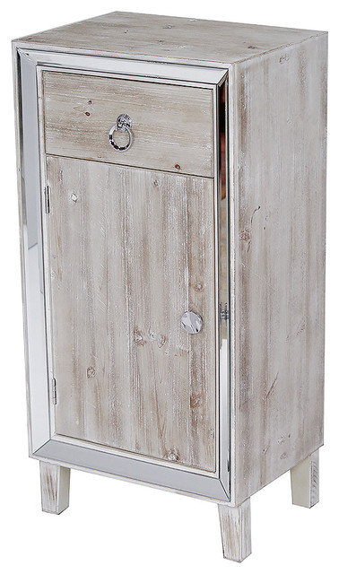 Avery 1 Drawer 1 Door Tall Accent Cabinet With Mirror