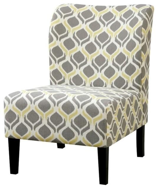 Furniture Of America Prue Ii Fabric Accent Chair Blue