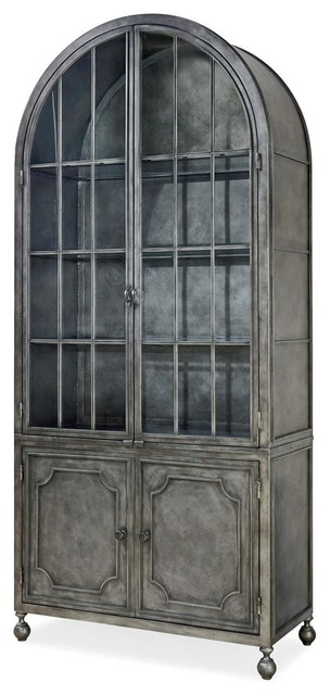 Maison French Industrial Metal Curio Display Cabinet - Industrial - China Cabinets And Hutches ...