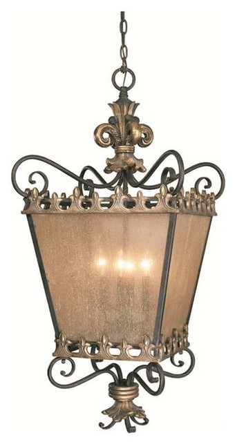 Jeremiah Lighting Fleur De Lis 4 Light Foyer In French Gold