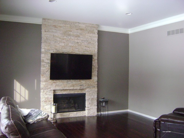 Accent Wall Requested Contemporary Family Room