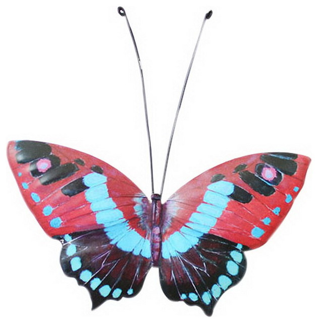 Pastora Bedroom Metal Middle Multicolor Butterfly Wall