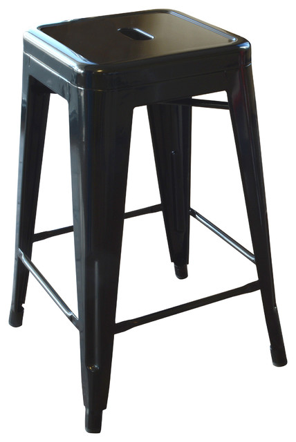 Incredible Loft 24 Metal Bar Stool Black Ibusinesslaw Wood Chair Design Ideas Ibusinesslaworg