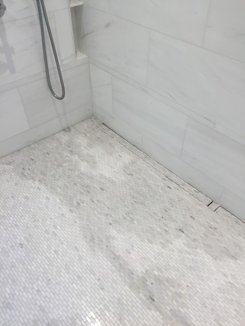 Permanent Quot Wet Quot Look In White Marble Mosaic Not Good