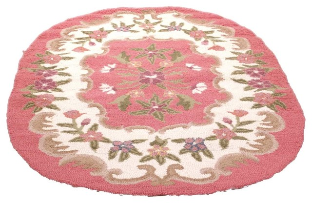oval area rug 6u0027 x 4u0027 pink wool