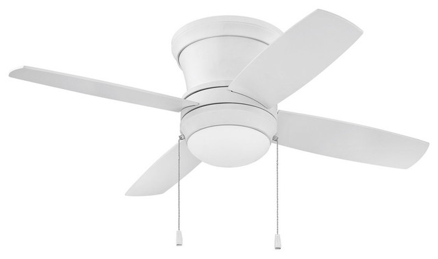 Bathroom vanities laval - Laval 2 Light Indoor Ceiling Fan In Matte White Contemporary Ceiling