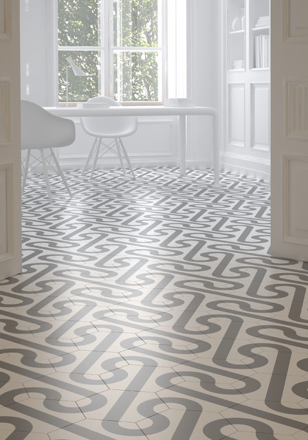 Roll, encaustic cement tiles designed by Dsignio for Harmony by Peronda