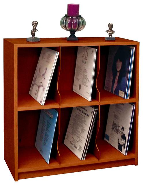 LP Record Rack 14x30x30, Birch Wood , Colonial Maple