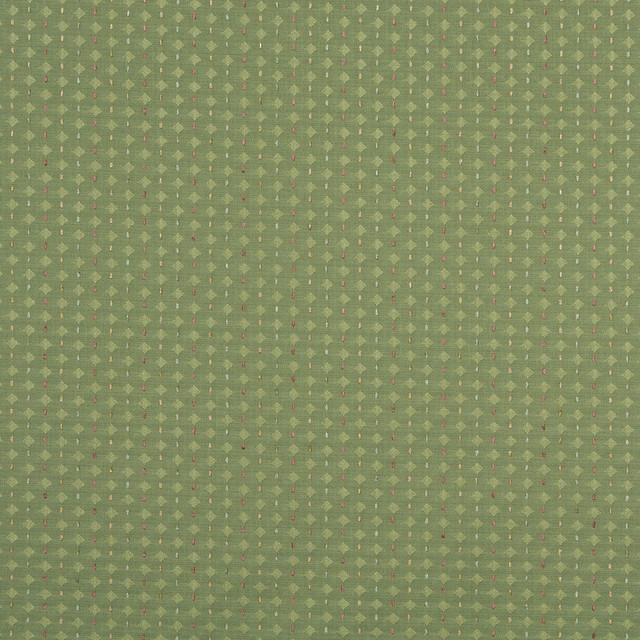 Lime Green And Gold Small Scale Diamonds Upholstery Jacquard Fabric