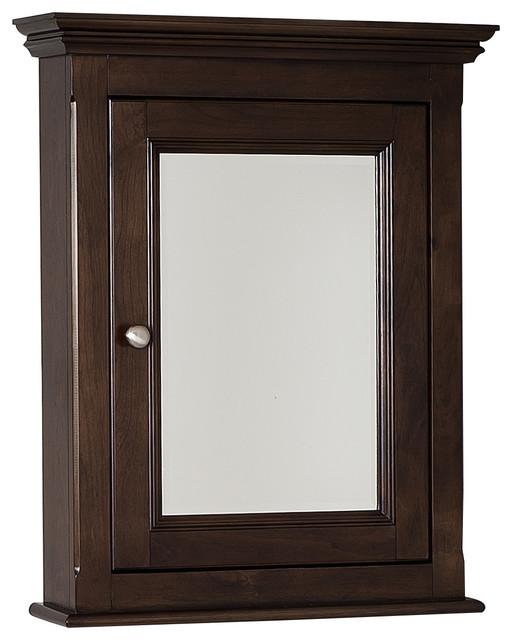 "Traditional Birch Wood-Veneer Medicine Cabinet, Walnut, 22.5""x30"" - Traditional - Medicine ..."