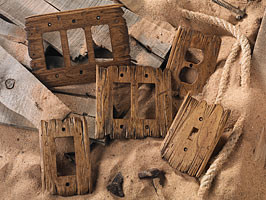 Old West Switchplates Rustic Home Decor