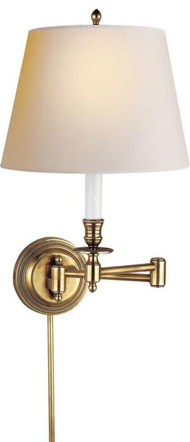 Studio Candlestick 1 Light Swing Arm Lights Wall Lamps