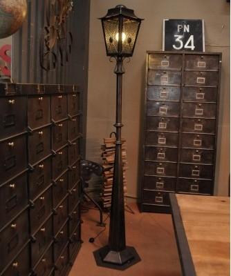 vintage stehlampe aus metall 1950er. Black Bedroom Furniture Sets. Home Design Ideas