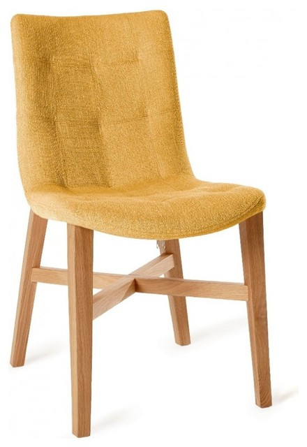 Chaise design florence jaune en ch ne massif contemporary dining chairs - Chaises chene massif ...