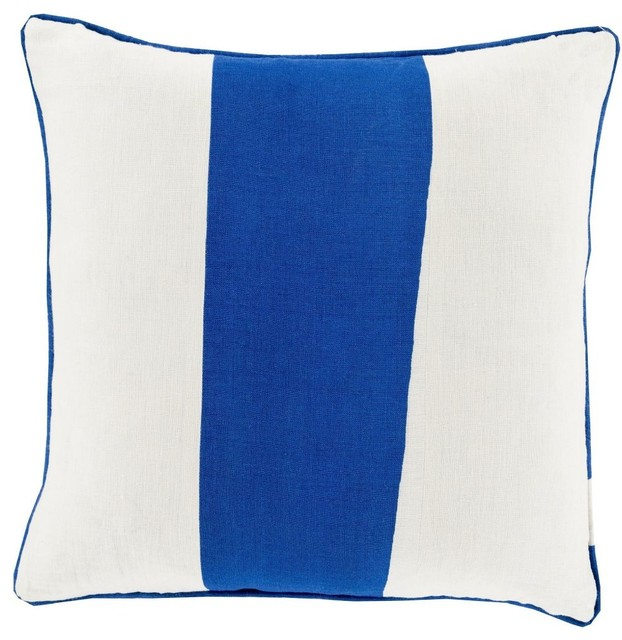 Solid/Striped Linen Stripe Decorative Pillow - Contemporary - Decorative Pillows - by RugPal