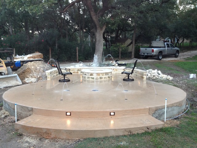 New Braunfels Splash Pad Rustic Austin By Back Yard