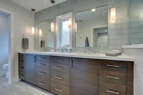 Double Sink Bathroom Vanity. Another Point To Consider With Two Sinks Is The Room You Will Need Under Each Sink For The Drain So Maybe A Single Sink Is The Way To Go Not Because You
