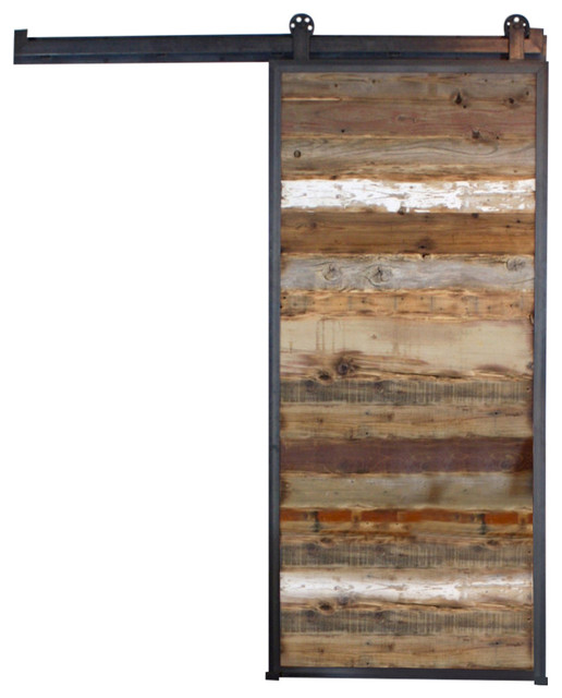 Reclaimed wood barn door rustic interior doors by for Recycled interior doors