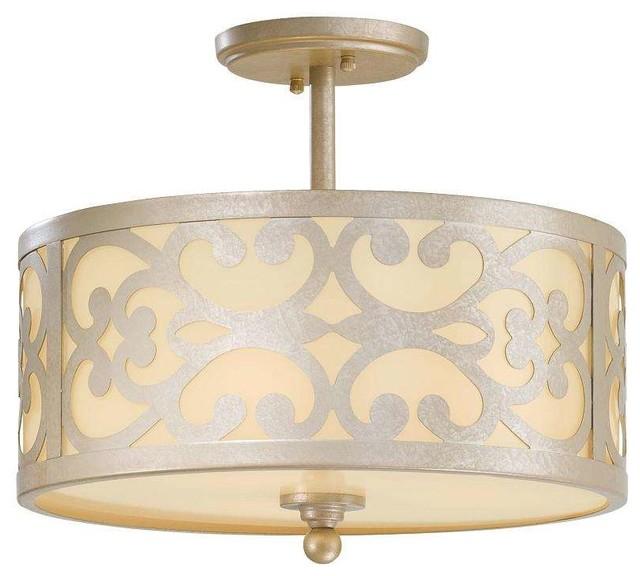 minka lavery 1498 252 nanti 3 light semi flush ceiling fixture