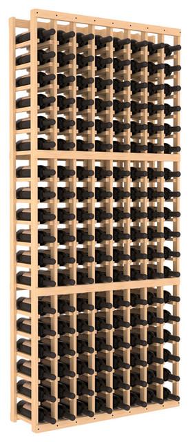 Wine Racks America 8 Column Standard Wine Cellar Kit, Pine, Unstained.