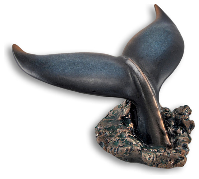 Zeckos Humpback Whale Tail Sculpture Decorative Objects  : beach style decorative objects and figurines from www.houzz.com size 640 x 576 jpeg 68kB