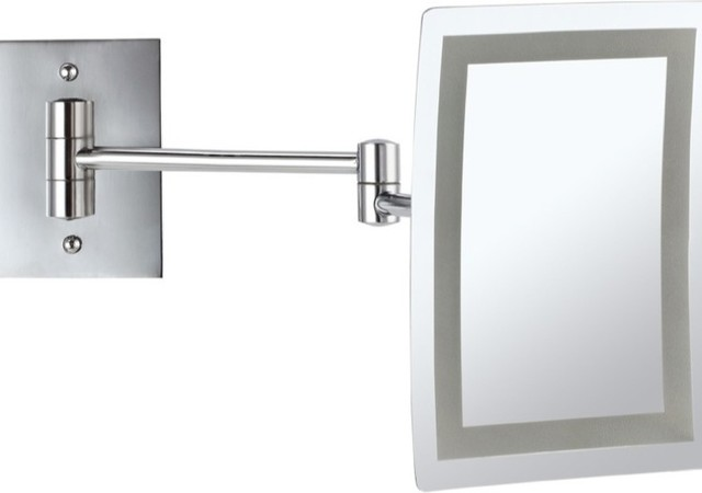 led lighted 3x makeup mirror
