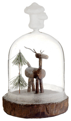 Silk Plants Direct Reindeer And Pine Tree, Pack Of 2.