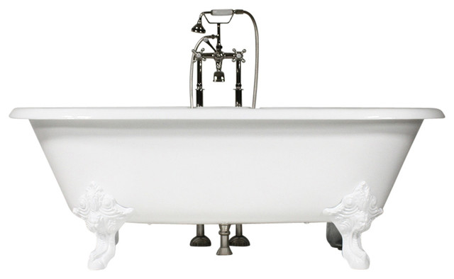 The Minster 73 Cast Iron Double Ended Tub With Drain.