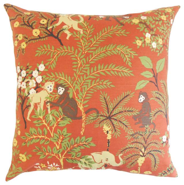 The Pillow Collection Fiametta Foliage Bedding Sham