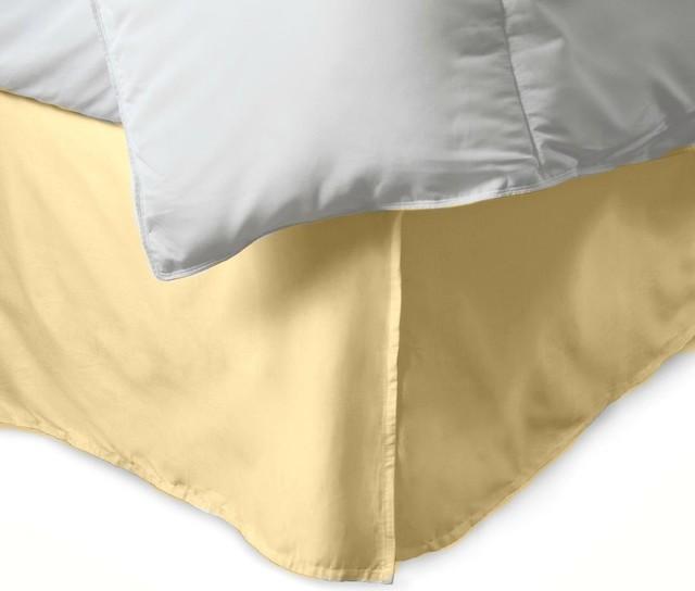 600 Tc Egyptian Cotton 1 Piece Bedskirt 12 Drop Length Beige